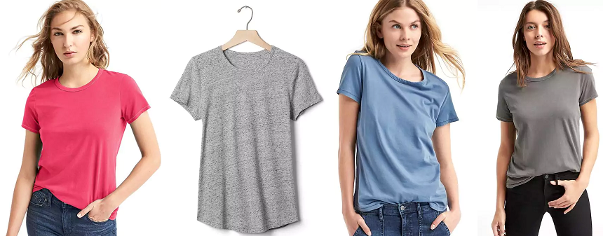 Gap Vintage Wash Sueded Tee $4-$10 (reg $25)