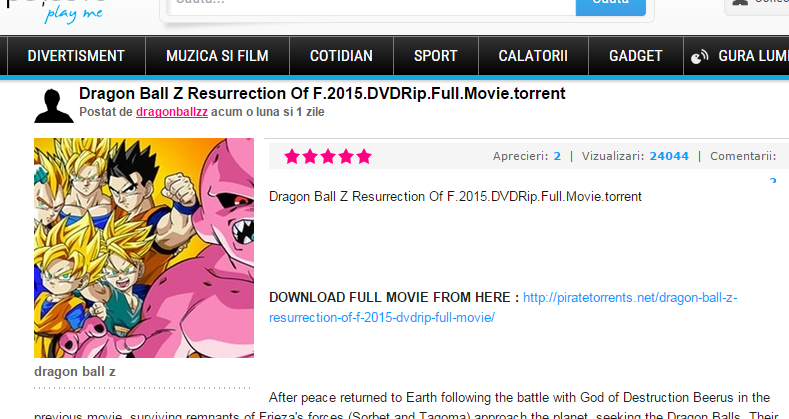 dragon ball z movies torrent download