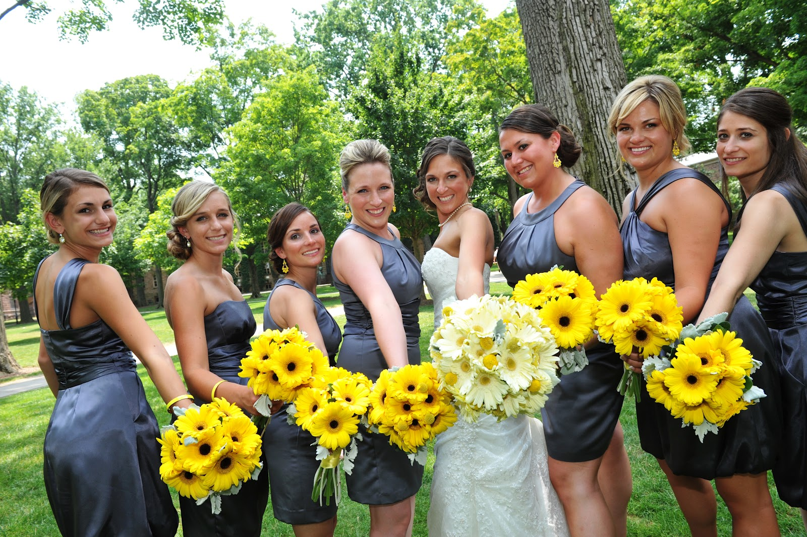 Corinnes Wedding Pewter And Yellow