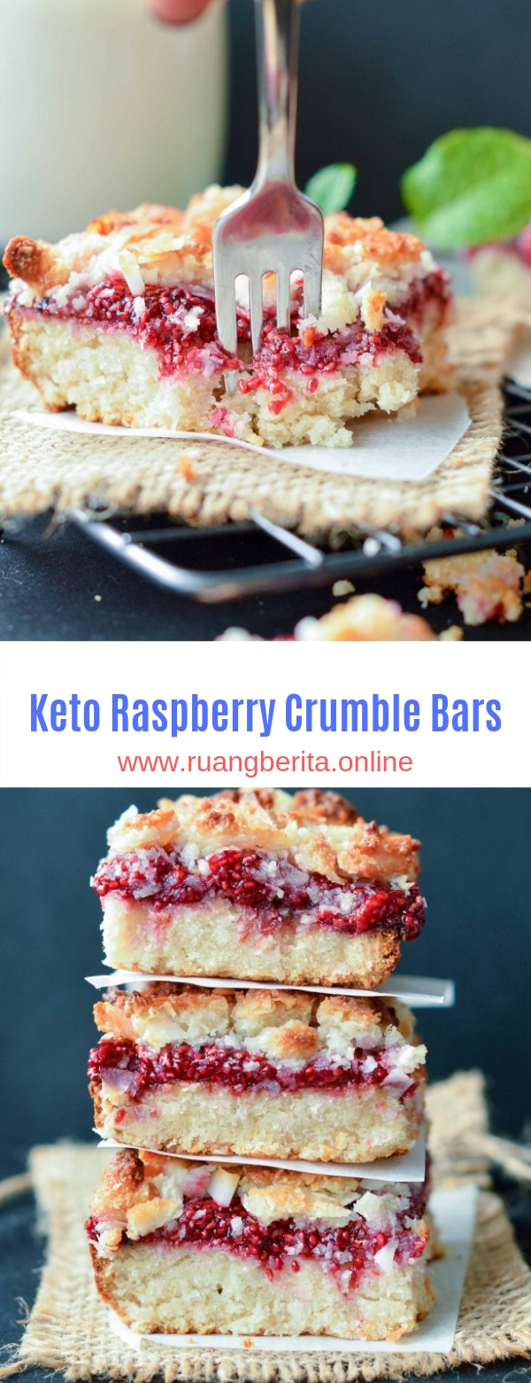 Keto Raspberry Crumble Bars