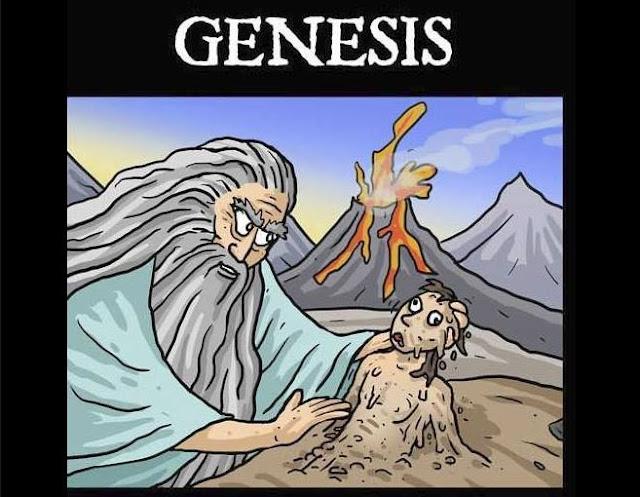 Truyện tranh bựa về Adam và Eva