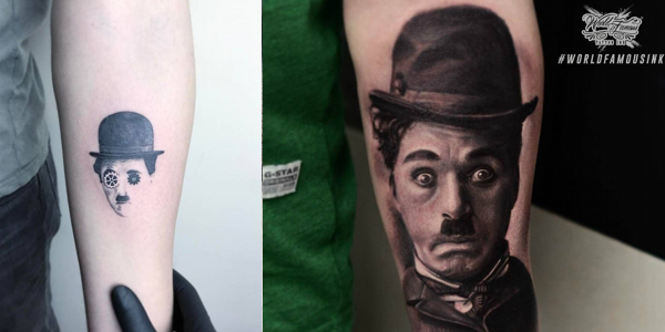 Charlie chaplin tattoos for Charlie s tattoo