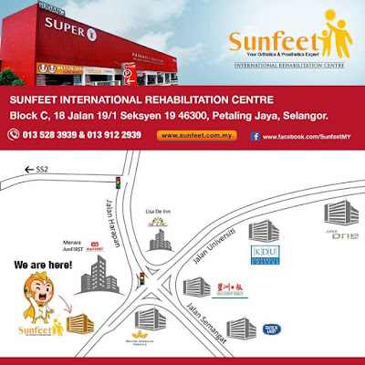 Sunfeet International Rehab Centre map