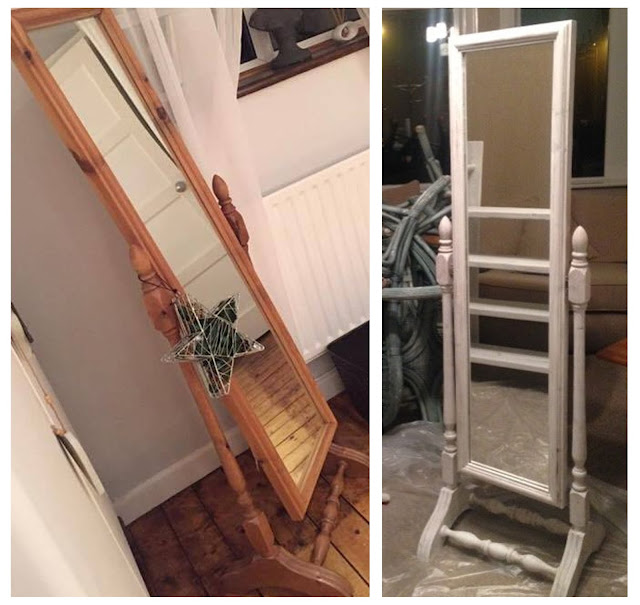 shabby chic, whitewashed, furniture, DIY, do it yourself, homemade, upcycled, sanding, power tools, table, chairs, thrifty, scaffolding furniture, scaffolding planks,make do and mend, freestanding mirror, shabby mirror, whitewashed mirror