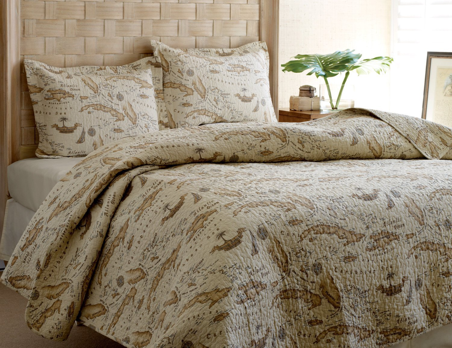 World map themed comforter and bedding sets old world map bedding quilt set by tommy bahama gumiabroncs Gallery
