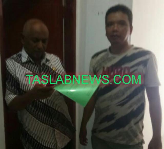 Kepala Bappenda Asahan H Mahendra (kiri) kabiro taslabnews.com (kanan)