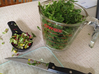 chopped swiss chard leaves and stems