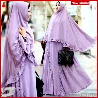 FHGS9175 Model Syari Miranda Lavender, Perempuan Baju Muslim Jersey BMG
