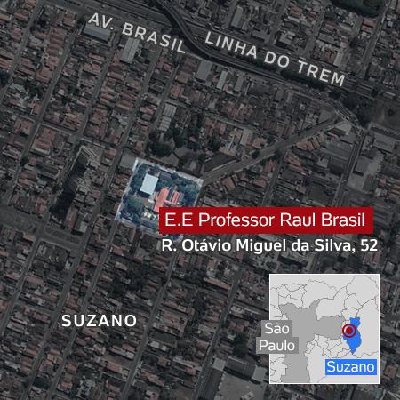 ATENTADO: Tiros deixam 10 mortos em escola de Suzano (SP). Imagem forte dos dois atiradores mortos.