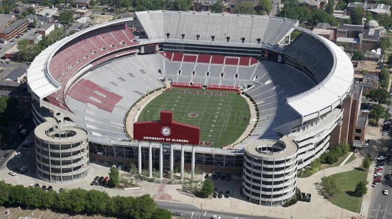 Самая большая вместимость стадиона