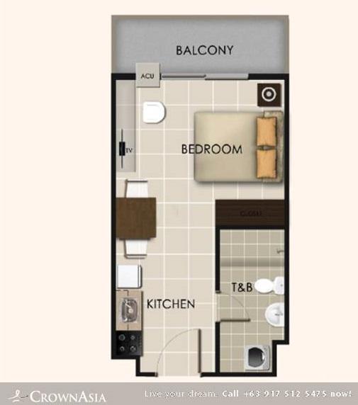 Floor Plan of Valenza Mansions - Studio Unit Citispace | Studio Unit CitiSpace Condominium Unit for Sale Sta. Rosa Laguna