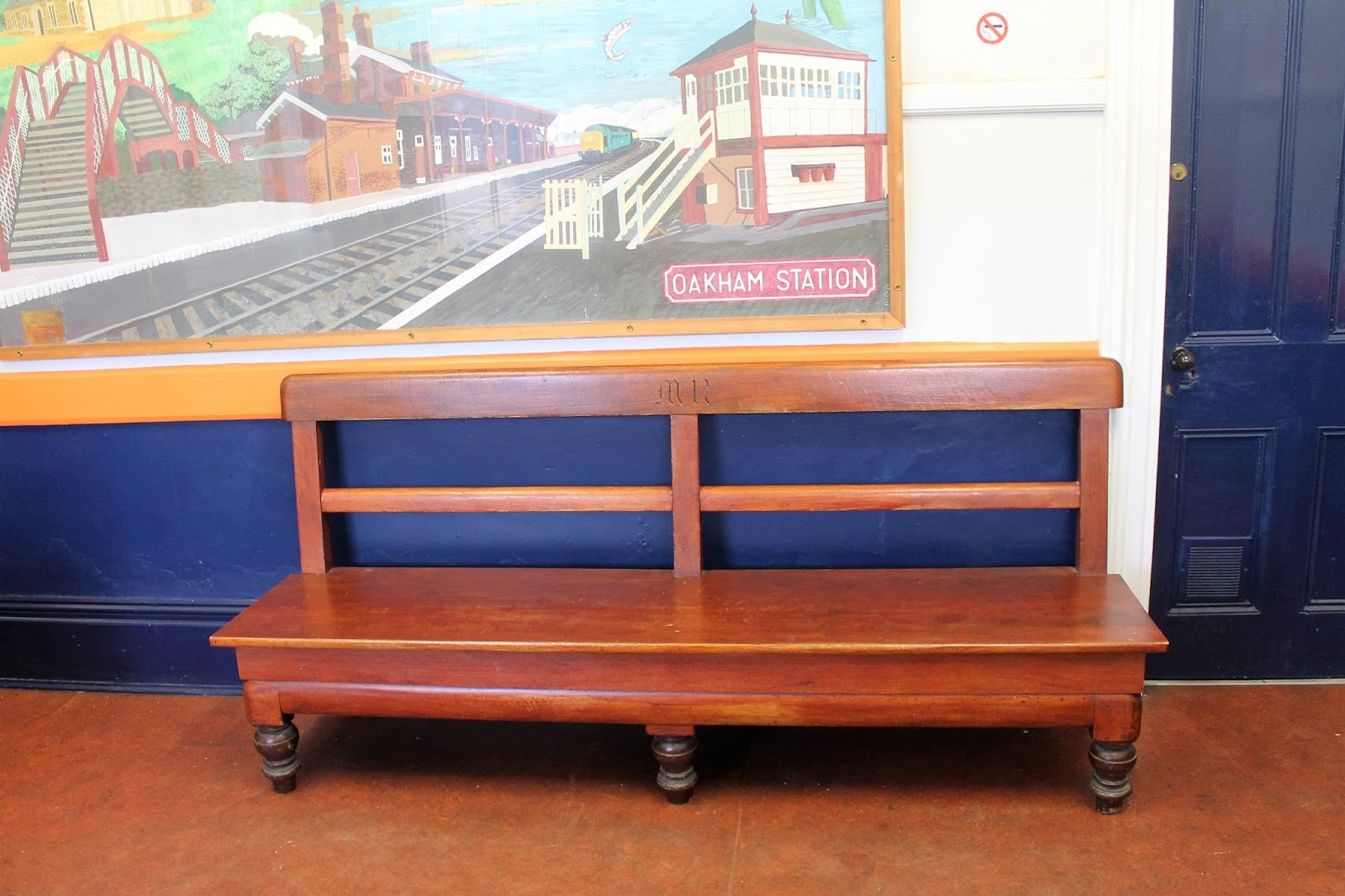 Martin Brookes Oakham Rutland England Old Midland Railway Bench Oakham Railway Station Waiting