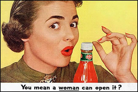[you mean woman can open it]