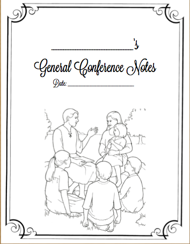 Sunbeam Primary: General Conference Packets (for Kids AND