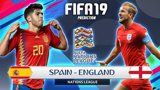 Prediksi UEFA Nations League Spain vs England 16 Oktober 2018 Pukul 01.45 WIB