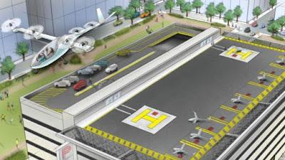 Fotografia ilustrativa sobre noticia da criação de carros voadores da UBER