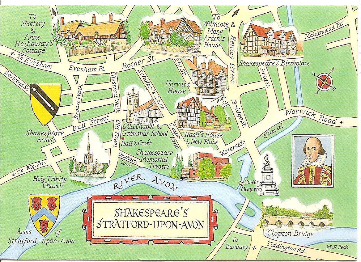 MY POSTCARD PAGE UNITED KINGDOM Shakespeares Stratford Upon Avon