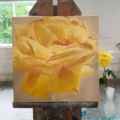 yellow-rose-oil-painting