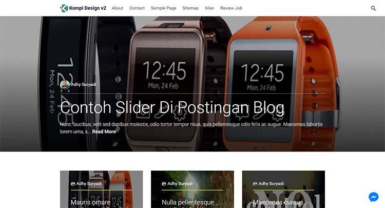 Update! Kompi Design V2 Premium Blogger Template AMP HTML