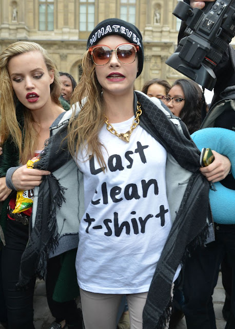 As worn by Cara Delevingne - Last clean t-shirt