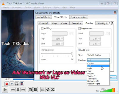 Add Watermark or Logo on Videos with VLC