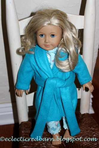 American Girl Teal Robe