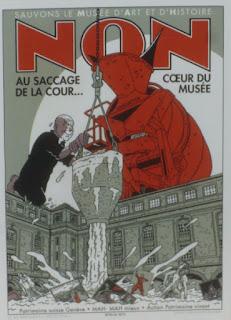 Affiche Non au bétonnage de la cour - coeur du musée