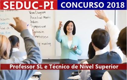 Concurso SEDUC-PI 2018 - professor