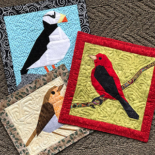 The flock bird quilt blocks