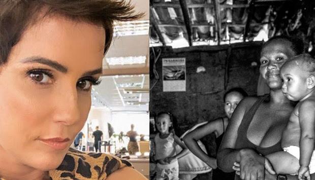 Deborah Secco doa casa para família carente no sertão da Bahia
