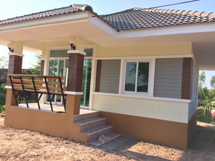 These are the contemporary style home. The living area is approximately 45 sq.m. above. It consists of 2 bedrooms, 1 bathroom, living room and a kitchen. The construction budget is starting at 300,000 Baht or 490,000 in Philippine Peso(excluding furniture).