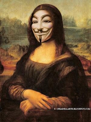 Monna Lisa Anonymous-fotomontaggi satirici di opere d'arte
