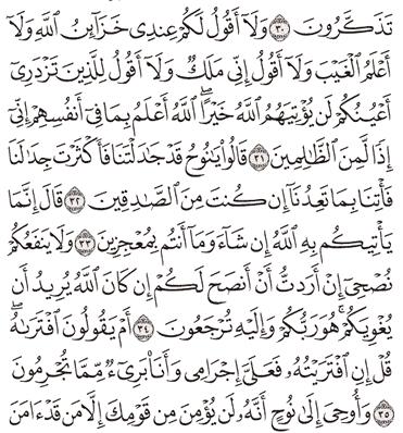 Tafsir Surat Hud Ayat 31, 32, 33, 34, 35