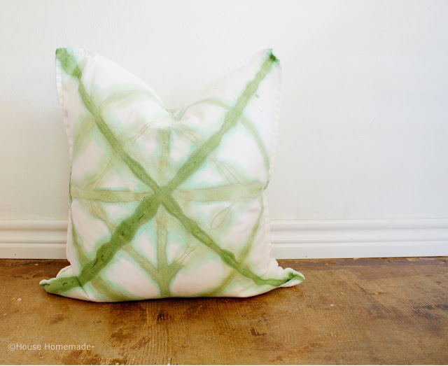 Shibori dyed pillow knock off