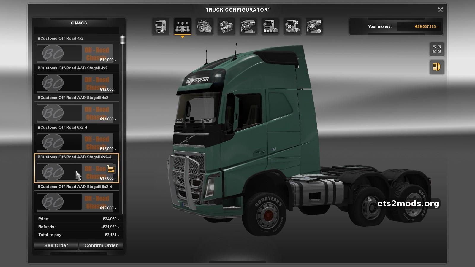 off road chassis mod ets2 monster truck mod   ets2 mods