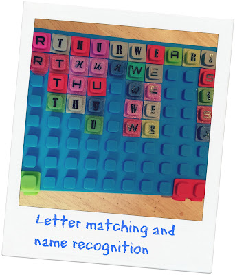 Letter and name recognition Waff notebook