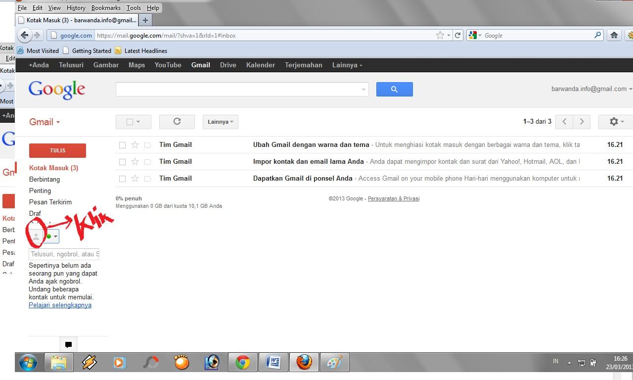 Cara Membuat Email di Gmail Mudah  Gambar  barwanda