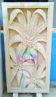 Hiasan dinding motif kelapa