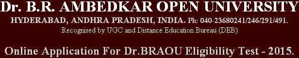 BRAOU degree B.A., B.Com and B.Sc admissions