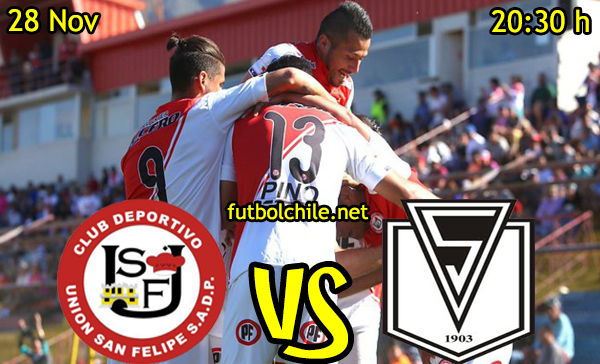 Ver stream hd youtube facebook movil android ios iphone table ipad windows mac linux resultado en vivo, online: Union San Felipe vs Santiago Morning