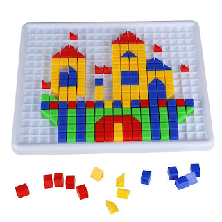 learn hand & eye coordination simple kids games, Mosaic Puzzle Block, 420pcs £7.99