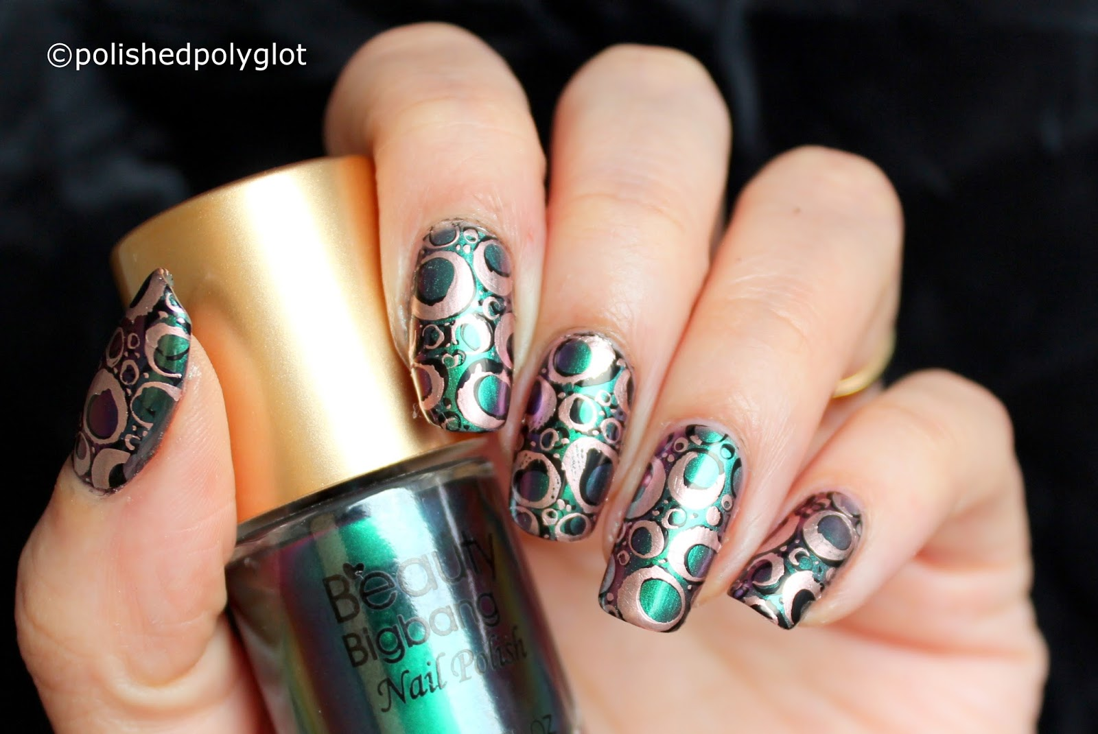Nail Art │Nail design with Round shapes [26GNAI Challenge ...