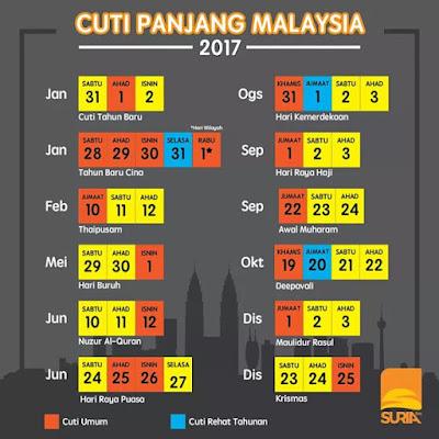 cuti perayaan di Malaysia