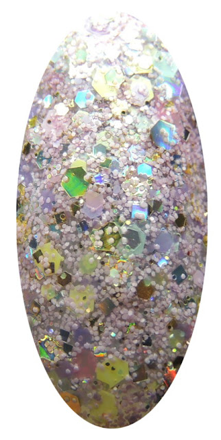 Custom handmade indie glitter topper nail polish. Cotton Candy King nail polish by Glitter Lambs. Gold Holographic and matte pink glitters.