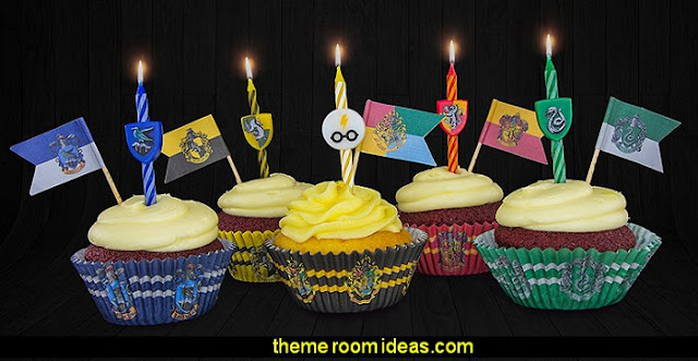 Harry Potter Candles Harry potter themed bedrooms - Harry Potter Room Decor - Harry Potter Bedroom Ideas - Harry Potter  bedding - Harry Potter wall decals - Harry Potter wall murals - harry potter furniture - harry potter party supplies - castle decorating props - harry potter party decorations