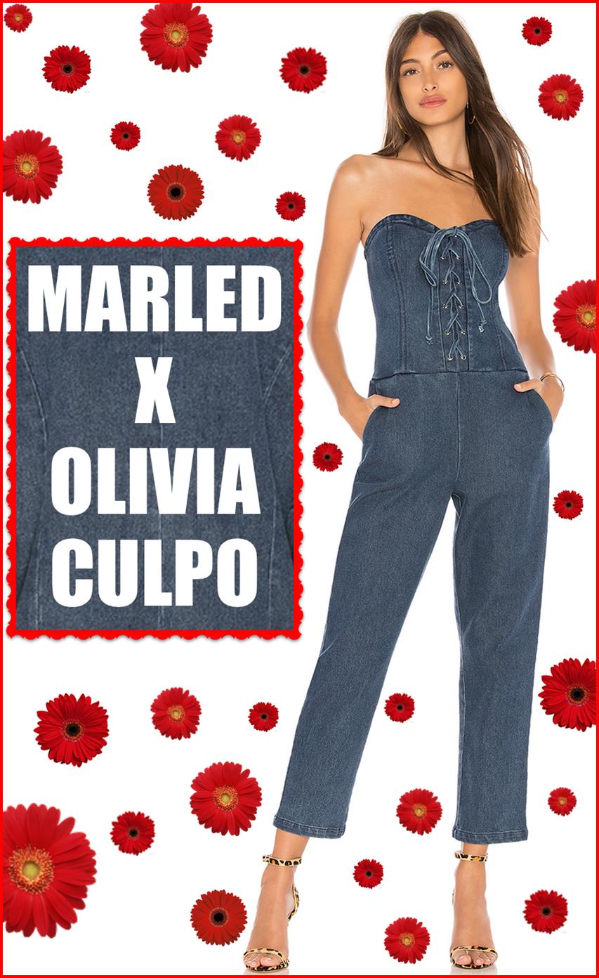 MARLED X OLIVIA CULPO CORSET JUMPSUIT