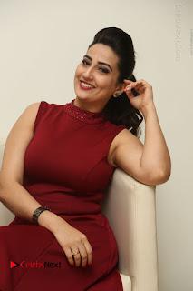 Telugu Tollywood Anchor Manjusha Pos in Red Short Dress  0039.JPG