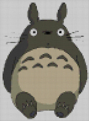 Free cross-stitching grid of Totoro