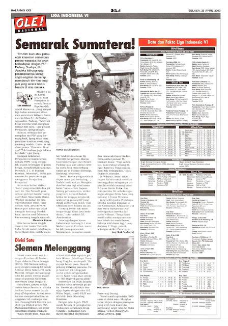 LIGA INDONESIA VI: SEMARAK SUMATERA