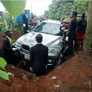 OMG !! Nigeria Man Buries Father with #32M BMW